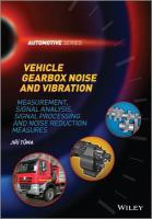 Cover image for Vehicle gearbox noise and vibration : measurement, signal analysis, signal processing and noise reduction measures