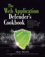 Cover image for Web application defender's cookbook : battling hackers and protecting users