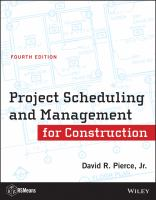 Cover image for Project scheduling and management for construction