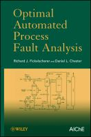 Cover image for Optimal automated process fault analysis