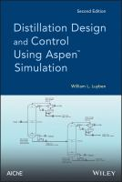 Cover image for Distillation design and control using aspen simulation