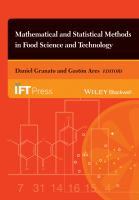 Cover image for Mathematical and statistical methods in food science and technology