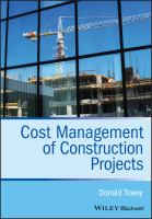 Cover image for Cost management of construction projects