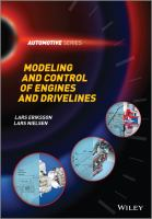 Cover image for Modeling and control of engines and drivelines