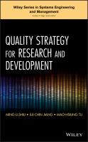 Cover image for Quality strategy for research and development