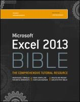 Cover image for Excel 2013 bible