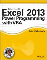 Cover image for Excel 2013 power programming with VBA