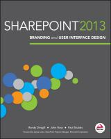 Cover image for SharePoint 2013 branding and user interface design