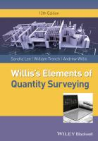 Cover image for Willis's elements of quantity surveying