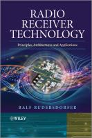 Cover image for Radio receiver technology : principles, architectures, and applications