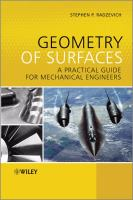 Cover image for Geometry of surfaces : a practical guide for mechanical engineers