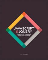 Cover image for JavaScript & jQuery : interactive front-end web development
