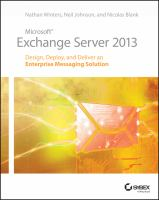 Cover image for Microsoft Exchange server 2013 : design, deploy, and deliver an enterprise messaging solution