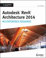 Cover image for Autodesk Revit architecture 2014 : no experience required