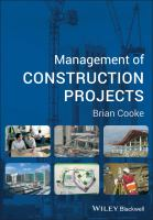 Cover image for Management of construction projects