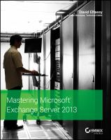 Cover image for Mastering Exchange server 2013