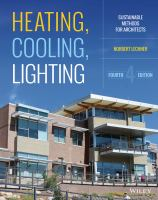 Cover image for Heating, cooling, lighting : sustainable design methods for architects