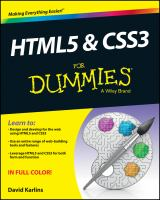 Cover image for Html5 and css3 for dummies