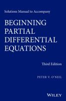 Cover image for Solutions manual for beginning partial differential equations