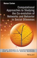 Cover image for Computational approaches to studying the co-evolution of networks and behavior in social dilemmas