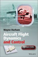 Cover image for Aircraft flight dynamics and control