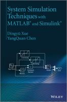 Cover image for System simulation techniques with MATLAB and Simulink