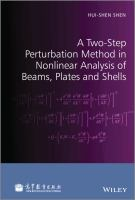 Cover image for A two-step perturbation method in nonlinear analysis of beams, plates, and shells