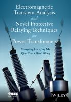 Cover image for Electromagnetic transient analysis and novel protective relaying techniques for power transformer