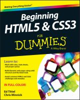 Cover image for Beginning HTML5 & CSS3 for dummies