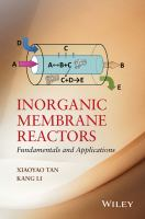 Cover image for Inorganic membrane reactors : fundamentals and applications