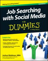 Cover image for Job searching with social media for dummies