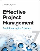 Cover image for Effective project management : traditional, agile, extreme