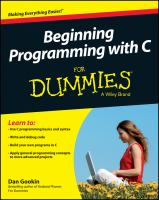Cover image for Beginning programming with C for dummies