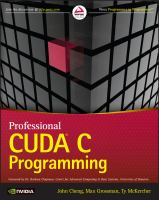 Cover image for Professional CUDA C programming