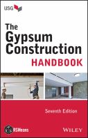 Cover image for Gypsum construction handbook