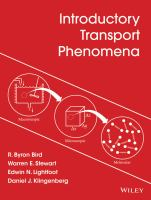 Cover image for Introduction to transport phenomena