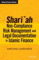 Cover image for Shar'ah non-compliance risk management and legal documentation in Islamic finance