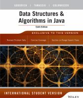 Cover image for Data structures and algorithms in Java