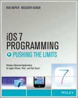Cover image for iOS 7 programming : pushing the limits : developing advanced applications for apple iphone, ipad and ipod touch