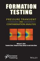 Cover image for Formation testing : pressure transient and contamination analysis
