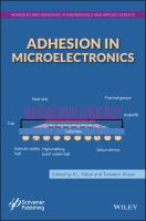 Cover image for Adhesion in microelectronics
