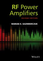 Cover image for RF power amplifiers