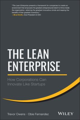 Cover image for The lean enterprise : how corporations can innovate like startups