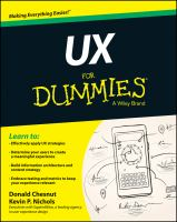 Cover image for UX for dummies