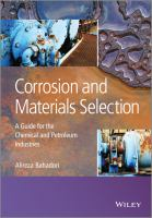 Cover image for Corrosion and materials selection : a guide for petroleum and chemical industries