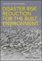 Cover image for Disaster Risk Reduction for the Built Environment