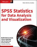 Cover image for SPSS Statistics for Data Analysis and Visualization