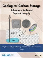Cover image for Geological Carbon Storage : Subsurface Seals and Caprock Integrity