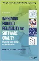 Cover image for Improving Product Reliability and Software Quality : Strategies, Tools, Process and Implementation