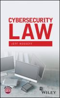 Cover image for Cybersecurity Law